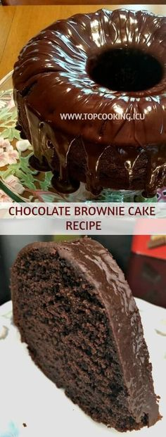 If you're a chocolate lover, you care going to amazed with this delicious Choc. - If you're a chocolate lover, you care going to amazed with this delicious Chocolate Brownie Cake. Cake Mix Cookie Recipes, Easy Cheesecake Recipes, Cake Mix Cookies, Cupcake Recipes, Cupcakes, Dessert Recipes, Easy Vanilla Cake Recipe, Chocolate Cake Recipe Easy, Chocolate Cookie Recipes