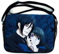 Amazon.com: Anime Kuroshitsuji Black Butler Sebastian & Ciel Messenger Laptop Bag: Everything Else