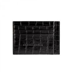 CREDIT CARD HOLDER BILL / CROCO BLACK