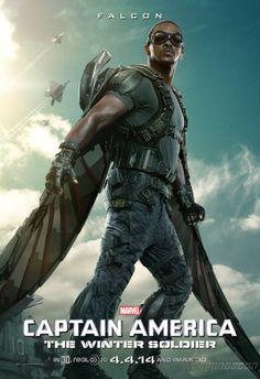 MY BOYS LOVE FALCON on the Avengers Cartoons. New Captain America 2 Anthony Mackie Falcon Movie Poster - Cosmic Book News
