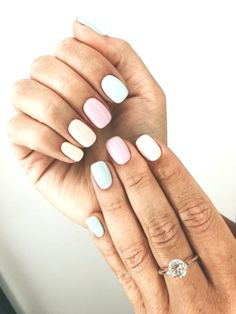 Nail - 47 Most Eye-catching And Gorgeous Light Colour Nails Design With Different Color. - - 47 Most Eye-catching And Gorgeous Light Colour Nails Design With Different Colors For Beginner - Nail Idea Lιɠԋƚ Cσʅσυɾ Nαιʅʂ 💖 Summer Acrylic Nails, Best Acrylic Nails, Spring Nail Art, Nail Summer, Summer Shellac Nails, Nail Ideas For Summer, Shellac Nail Colors, Summer Nail Polish, Gelish Nails