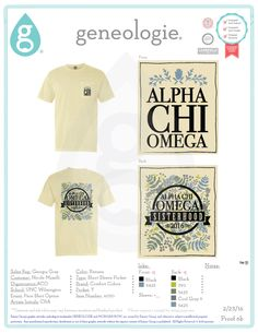 Alpha Chi Omega Kappa Pi sorority PACE marketing shirt spring 2016