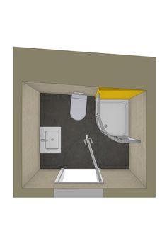 Badplanung eines kleinen schrägen Badezimmers