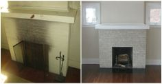 FIREPLACE SPRING CLEANING! It can be super easy with Brick Anew! http://www.brick-anew.com/fireplace-brick-paint-kit.html