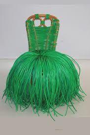 art chair grass skirt