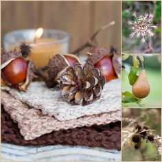 Herzenswärme Beautiful Collage, Collage Design, Autumn Inspiration, Candle Holders, Candles, Winter, Handmade, Dreams, Plant Parts
