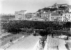 Av. Dona Amélia, futura Av. Almirante Reis (1906) Capital City, Homeland, Portuguese, Romania, Old Photos, Paris Skyline, Greece, The Past, Old Things