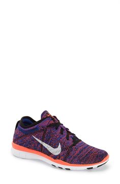 Shop Nike Free Tr Focus Flyknit Women Round Toe Synthetic