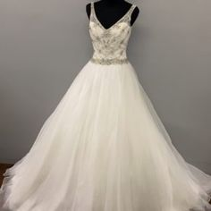 Sleeveless Beaded Ballgown Wedding Dress • Ava's Bridal Couture Affordable Bridal, Bridal Salon, Short Dresses, Formal Dresses, Bridesmaid Dresses, Wedding Dresses, Ava, Ball Gowns, Couture