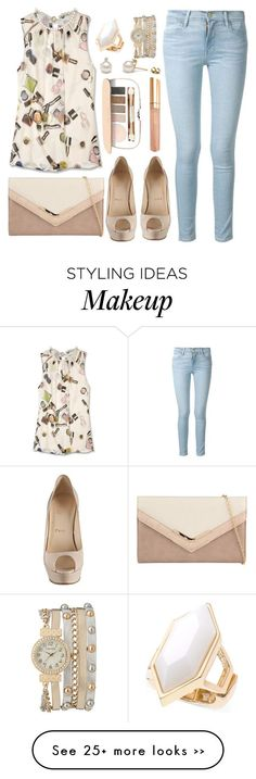 """Untitled #2925"" by natalyasidunova on Polyvore featuring Moschino Cheap & Chic, Frame Denim, Christian Louboutin, ALDO, Jane Iredale, Bare Escentuals, maurices and T Tahari"