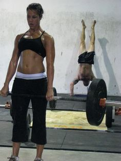 Deadlifts and handstand push-ups :)