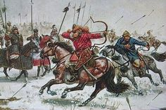 For 30 years, Genghis Khan and his Mongolian horde swept through Asia, slaughtering over one-tenth of the people on Earth and conquering nearly one-quarter Genghis Khan, Mongolian Archery, Golden Horde, Age Of Empires, Barbarian, World History, Rome History, European History, Middle Ages