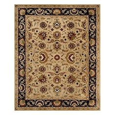 Safavieh English Manor Collection EMS733A Handmade Multi and Red Wool Area Rug