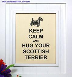 Scottish Terrier Poster  8 x 10 Art Print  Keep by stevesposterart, $8.95