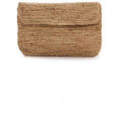 Bop Basics Raffia Crochet Clutch - Natural