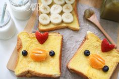 9 easy bento box art ideas anyone can make Make breakfast (or brunch) with Banana French Toast Chicks. Easy Food Art, Food Art For Kids, Cute Food, Good Food, Yummy Food, How To Make Breakfast, Breakfast For Kids, Cute Breakfast Ideas, Bento Kawaii