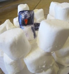 marshmallow snow craft - might need a little tweaking!  Love the idea of a marshmallow igloo!