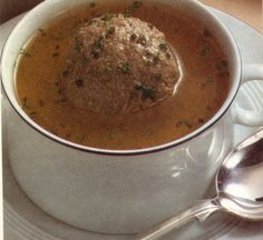"""The German liver dumpling soup is a Bavarian Specialty and called in German """"Leberknoedelsuppe"""". Knoedel is a dumpling and Leber is liver, original recipe."""