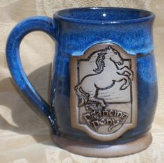 Prancing Pony mug, NEW VERSION, Lord of the Rings, Hobbit, handmade ceramic