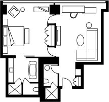 Corner One-Bedroom Suite