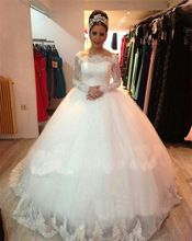 Mansa 2015 Robe De Mariage romântico vestido De casamento da princesa De manga comprida De renda apliques Vestidos De noiva Vestidos De Noivas(China (Mainland))