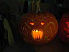 Balrog - Lord of the Rings - Halloween Pumpkin - Jack-o-lantern