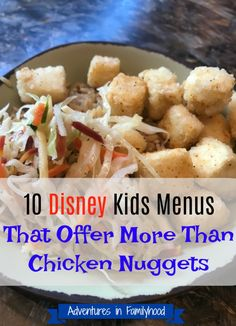 Disney World With Kids ! Here are 10 counter service restaurants at Walt Disney World theme parks that offer you options for kids beyond the chicken nugget. Disney World Theme Parks, Disney World Food, Disney World Restaurants, Disney World Florida, Walt Disney World Vacations, Disney Resorts, Family Vacations, Disney Parks, Family Travel