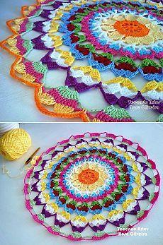 Вяжем салфетку крючком Textile Tapestry, Tapestries, Crochet Yarn, Madness, Fabrics, Textiles, Blanket, Diy, Quilts