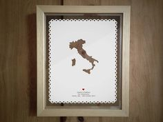 Personalised Engagement Destination Papercut from notonthehighstreet.com