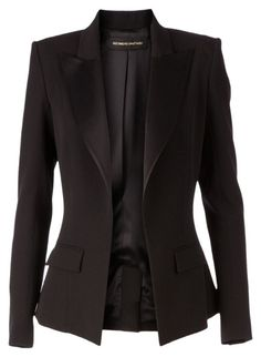 Blazer Jackets For Women, Work Jackets, Alexandre Vauthier, Look Blazer, Black Blazers, Outerwear Jackets, Mantel, Ideias Fashion, Fashion Outfits