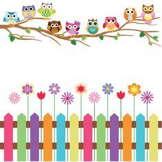 Adesivo de Parede Quartinhos Jardim das Corujas Esquerda Colorido Classroom Walls, Classroom Decor, Boarder Designs, Diy Diwali Decorations, School Murals, Sewing To Sell, Creative Poster Design, Decorate Notebook, Wall Drawing