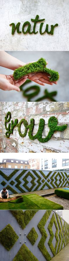 New Wall Graffiti Interior Spaces Ideas Moss Graffiti, Graffiti Wall, Moss Wall Art, Deco Studio, Garden Nook, Pink Iphone, Pink Patterns, Imagine Dragons, Diy Patio