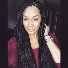 HAIRSPIRATION| Love these #boxbraids on @Luvcrystalrenee done by #AtlantaStylist @redastylez❤️ She looks GORGEOUS #VoiceOfHair ========================= Go to VoiceOfHair.com ========================= Find hairstyles and hair tips! =========================