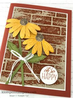 Video filled with tips for stamping with SU: Daisy Delight Stamp set and punch.  (Pin#1: Background: Embossing.  Pin+: Flowers: SU-3D/ Dies...).