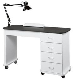 Capri Manicure table by Collin beauty salon cabinetry manufacturing 2008