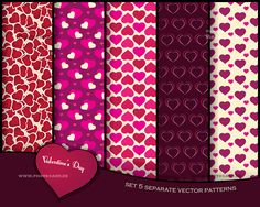 valentine pattern set with hearts - vector isolated. You can buy my artwork >>> #pattern #valentine #love #paper #vector #heart #box #design #romantic #texture #wedding #invitation #set #background #card #day #design #illustration #wallpaper #date #decoration #happy #holiday #isolated #symbol #beautiful #celebrate #celebration #collection #couple #february #lovely #valentines #gift #happiness #together #feeling #present