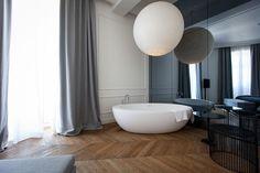 View full picture gallery of Hotel Adriatic Bathroom Interior Design, Modern Interior Design, Interior Architecture, Interior Decorating, Bedroom With Bath, Modern Master Bedroom, Bath Room, Big Bathrooms, Beautiful Interiors