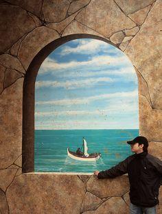 paisaje barco