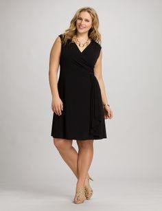 Plus size dresses plus size ruffled cascade dress dressbarn