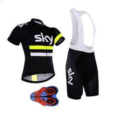 SKY 9D Radfahren Jersey Ropa Ciclismo Bike Racing Mtb Schnell Trocknend  Fahrradkleidung Kurzen Ärmeln Sommer Shirt a786e47fbd