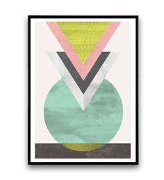 Impresión geométrica minimalista impresión impresión por Wallzilla