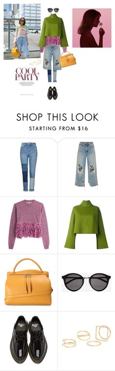 """""""Untitled #1934"""" by rainbowcloudinosaur ❤ liked on Polyvore featuring Topshop, R13, McQ by Alexander McQueen, Bally, Jil Sander, Yves Saint Laurent, Dr. Martens and MANGO"""