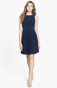 Pleated Stretch Woven Dress AUD 133.14	 Item #197220 Eliza J