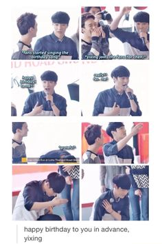 Yixing is just so adorable and innocent