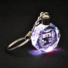Luz LED Kpop BTS Bangtan Boys Jungkook Jimin rap ventiladores Llavero De Cristal Regalo | eBay