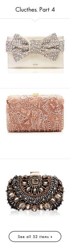 """Clucthes. Part 4"" by katyusha-kis ❤ liked on Polyvore featuring bags, handbags, clutches, purses, borse, kate spade handbag, long purses, kate spade purses, bow purse и kate spade clutches"