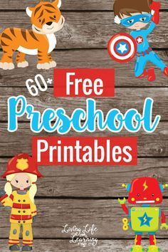 Free educational preschool printables! Math games, ABC practice... Lots of fun preschool activities.