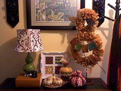 Pinterest-inspired fall foyer decor.