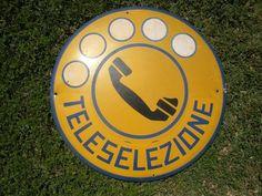 INSEGNA TELEFONO Tabella SIP TELESELEZIONE Cabina TELEFONICA Vintage COLLEZIONE | eBay