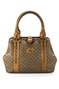 9e21d7625dc Gucci Doctor s Hinged Top Opening Rare Early Excellent Vintage Satchel in  brown small G logo print